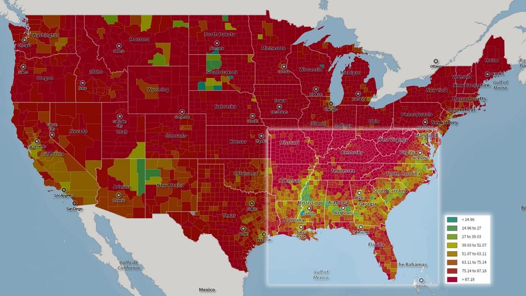 Total population, white, U.S. Census, 2010.