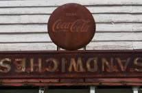 Close-up of old store, Ebony, Va.