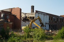 Razing of textile mill, Henderson, N.C.