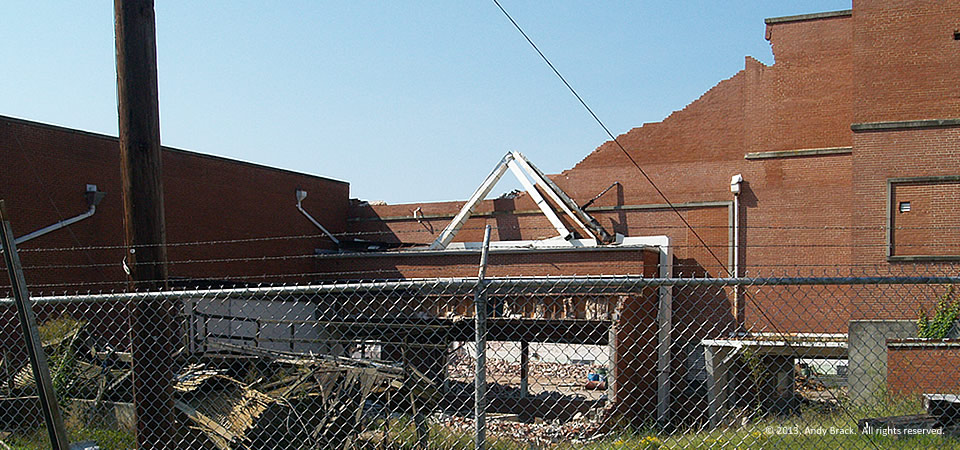 Gutting of Henderson Cotton Mill, Henderson, N.C.  Photo by Andy Brack.