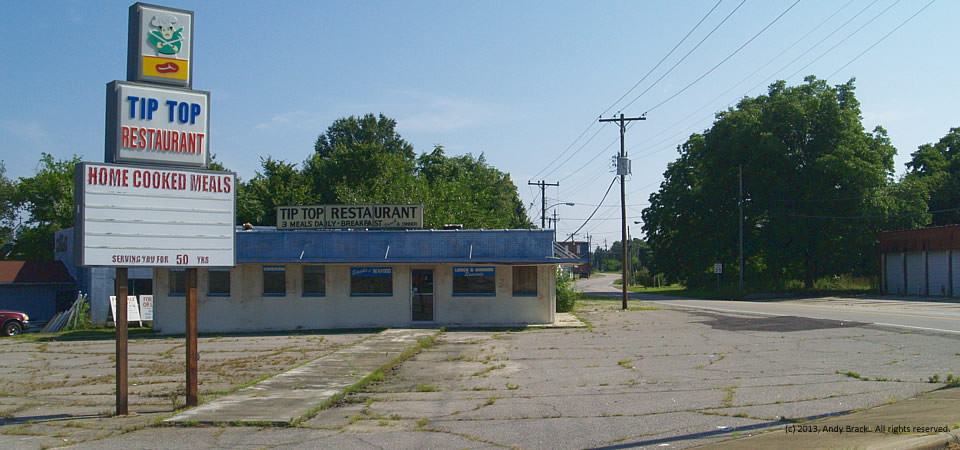 Old Tip Top Restaurant, Henderson, N.C.  Photo by Andy Brack.