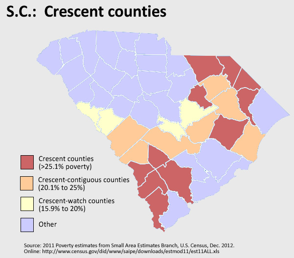 South Carolina's Crescent counties