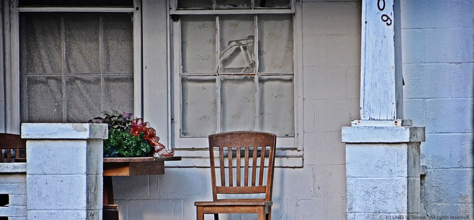 Empty porch, Kingstree, S.C.