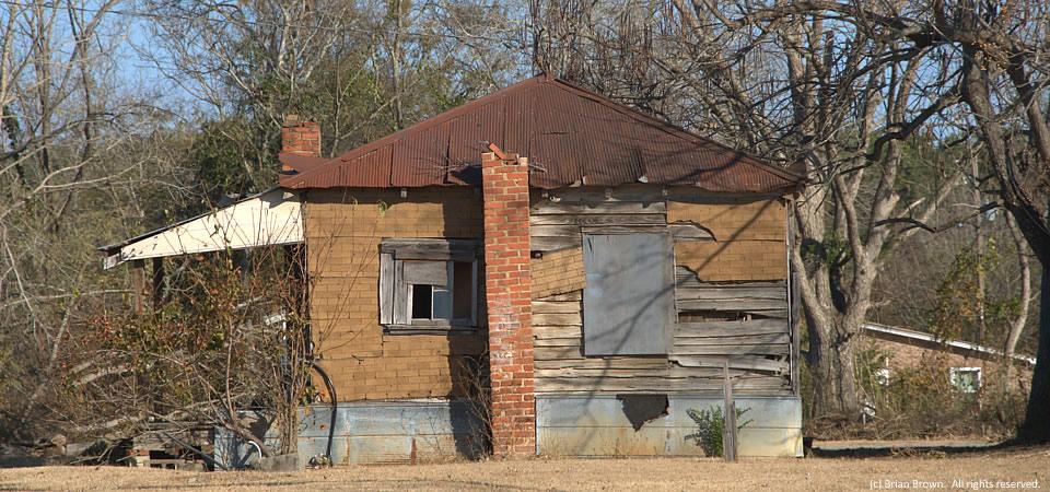Tar-paper house, Gough, Ga  – Building a better South