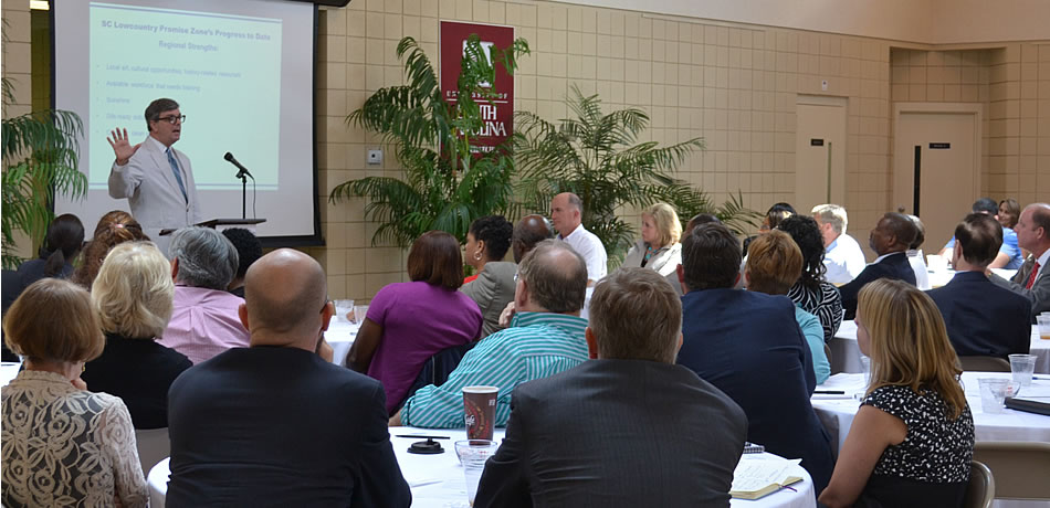 Better South President Andy Brack spoke last year at a Promise Zone organizational luncheon.
